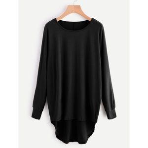 Tops - Black batwing top